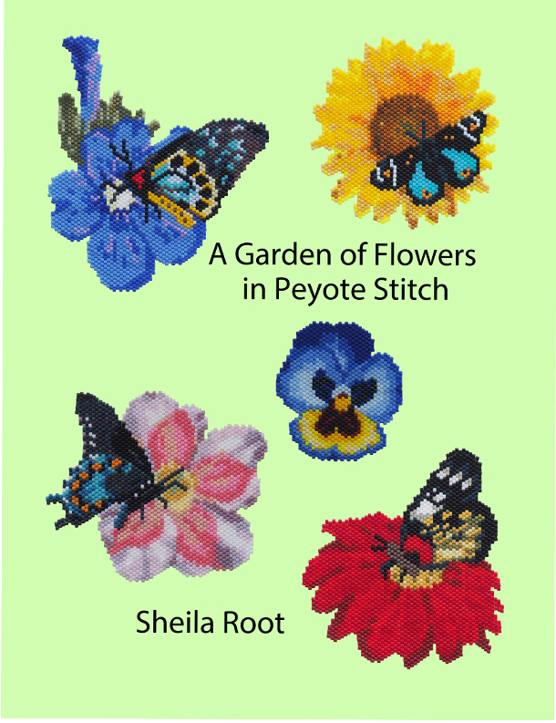 A Garden of Flowers in Peyote Stitch-PDF Download