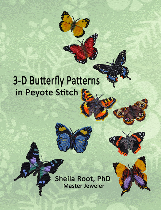 3-D Butterfly Patterns in Peyote Stitch -PDF download format