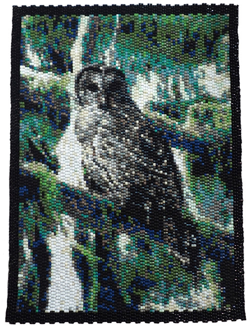 Owl in Rain Forest Tapestry Pattern