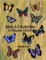 More 3-D Butterflies in Peyote Stitch- PDF download format