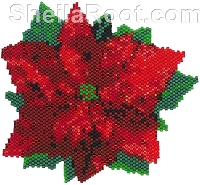 Poinsettia Brick Stitch PDF Pattern