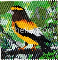 Evening Grosbeak flat pattern PDF