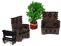 Hall Bench, Side Table & Palm pattern 1/48th scale PDF