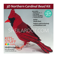 Bead Kit for 3D Northern Cardinal 15/0