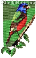 Painted Bunting Flat Pattern PDF
