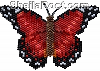 Ruby Lacewing Brick Stitch PDF Pattern