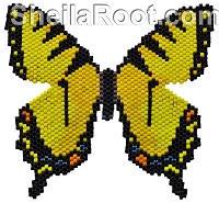 Tiger Swallowtail Brick Stitch PDF Pattern