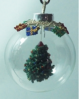 Holiday Tree in a Glass Ball with Gifts PDF pattern