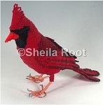 Northern Cardinal 3D PDF Pattern